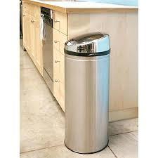 gallon stainless steel round sensor kitchen trash can 13 kirkland signature drawstring bags 200 ct