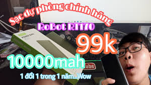Sạc dự phòng chính hãng Robot RT170 10000mAh giá 99k | Giá rẻ nhưng chất  lượng không rẻ !!! - YouTube