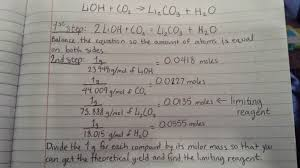 balance the chemical equations below find the limiting reagent and the theoretical yield if there is one gram of each reagent