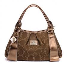 Coach Fashion Signature Large Brown Hobo 336