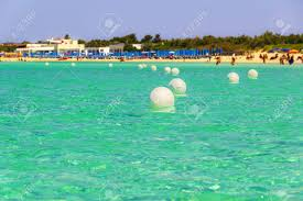 The Most Beautiful Sandy Beaches Of Apulia: Porto Cesareo Marine,.. Stock  Photo, Picture And Royalty Free Image. Image 57298208.