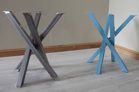 funky metal steel table legs for round square shaped dining table customisable