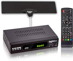 Amazon.com: Five Star ATSC HD Digital TV Converter Box w/ 1080p HDMI  Output, 40 Miles Over The Air(OTA) Flat Antenna & Amplifier, Daily/Weekly  Scheduled PVR Recorder w. TV Control Learning Buttons: Home