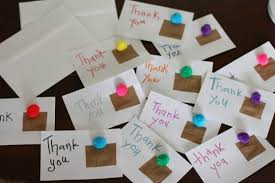 Thank you cards made by kids-1