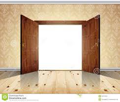 open double door