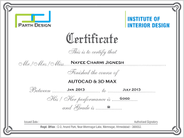 certificate of interior design.  Certificate Certificate Of Interior Design Certification  Programs Inside E