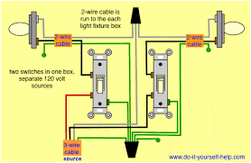 wiring diagrams double gang box do it yourself help com 2 Gang Switch Wiring Diagram two switches, two hot wires 2 gang switch wiring diagram