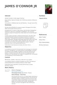District Manager Resume samples