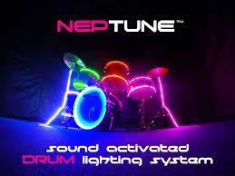 Light Up Drum Light Up Drum Gear Including Rockstix Motion Activated Led