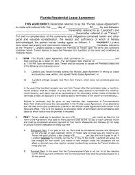 lease contract template florida rental lease agreement templates legalforms org