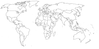 black and white world map  pointcardme