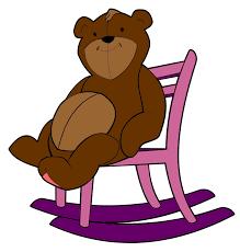 rocking chair clipart. Teddy Bear Rocking Chair Clipart