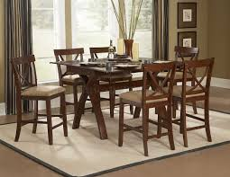 warm espresso modern counter height dining table woptions