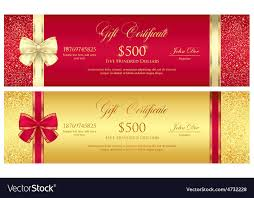 Red And Gold Gift Certificate With Borders