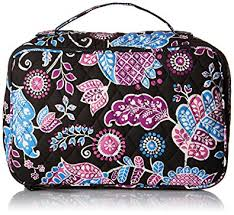 vera bradley luge women s large blush brush makeup case alpine fl cosmetic bag