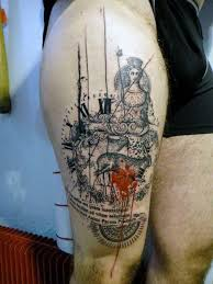 70 Stehenní Tetování Pro Muže Manly Inkoustové Vzory