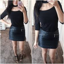 H&M - Quilted Faux Leather Skirt from Jael's closet on Poshmark & Quilted Faux Leather Skirt Adamdwight.com