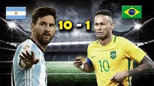 ملخص مباراة الارجنتين و البرازيل 10 - 1 واحدة من أمتع مباريات كوبا امريكا -  YouTube
