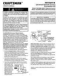 craftsman garage door opener remoteCraftsman Garage Door Opener 13953683 User Guide  ManualsOnlinecom
