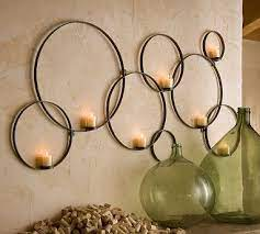 candle holders wall decor