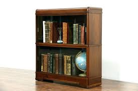 vintage bookcase with glass doors vintage bookcases sold art waterfall vintage bookcase sliding glass with bookcases