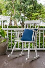 wooden rocking chairs for front porch. Interesting Chairs Stock Photo  White Wooden Rocking Chair On Front Porch At Home On Wooden Rocking Chairs For Front Porch