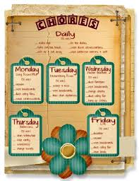 Mammas Chore Chart Weekly Chores Chore Chart Kids Chore