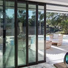 4 panel aluminum sliding door