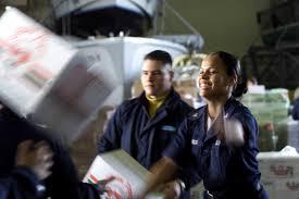 Us Navy Yeoman Third Class Barbara De La Rosa And Us Navy