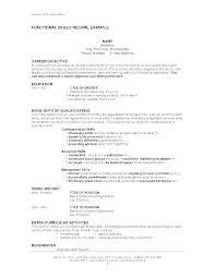 Sample Resume Skills List Mazard Info