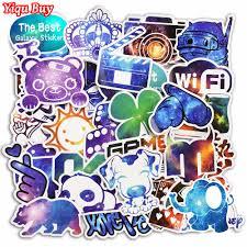 New <b>50 Pcs Galaxy Stickers</b> Graffiti Sticker for Laptop Luggage Wall ...