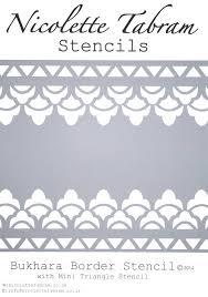 bukhara border stencil nicolette