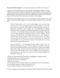 Martin Luther King Jr Letter From Birmingham Jail Persuasive