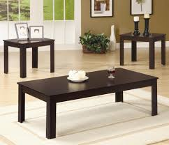 Table Sets For Living Room Coaster Occasional Table Sets 3 Piece Contemporary Round Coffee