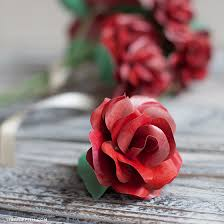 Red Paper Flower Follow This Simple Paper Rose Tutorial To Make The Perfect