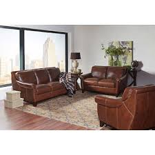 leather living room furniture. Crofton 3-piece Top Grain Leather Living Room Set Furniture