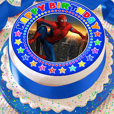 Spiderman Happy Birthday 75 Inch Precut Edible Birthday Cake Topper
