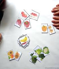 Sorting Fruit And Vegetables By Color With Free Printable Fruits