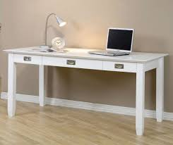 add a stylish new element to any room with this contemporary white writing  desk this