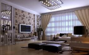 Tv Wall Decoration For Living Room Living Room Simple European Style Download 3d House