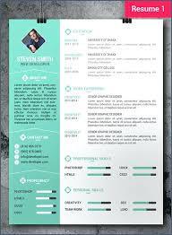Creative Professional Resume Templates Free Resume Example