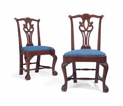chippendale side chair. Lot 161 Chippendale Side Chair W