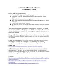 Personal Statement For College Help Writing A Personal Statement For College