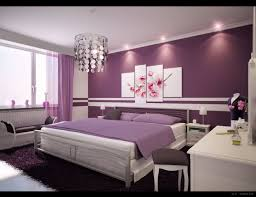 Purple Decorations For Bedroom Bedroom Sweet Teeny Decoration With Purple Wall Color Interior