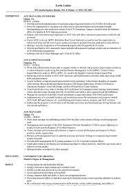 Ace Manager Resume Samples Velvet Jobs