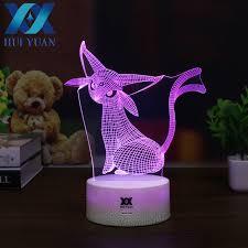 cool mood lighting. HUI YUAN Espeon 3D Lamp New Pokemom RGB Changeable Mood 7 Color Light Base Cool Lighting