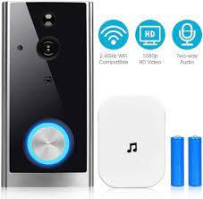 COSTWAY »Video Doorbell« Smart Home Türklingel (mit Kamera, 1080p HD, WiFi,  mit Gegensprechfunktion/Nachtsicht/PIR Bewegungssensor / 32GB  Speicherkarte) online kaufen