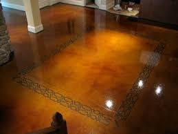 stained concrete floor basement.  Stained Dye And Seal Concrete Stained Brown Concrete Floor  Floors The Design  With Basement E
