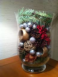 Christmas decor - made with pine tree branches, pine cones, silver balls  and misc