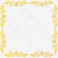 Picture Frame Design Png Golden Color Frame Design Golden Frame Border Png